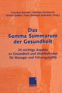 Cover Das Summa Summarum der Gesundheit