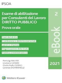Cover Esame di abilitazione per Consulenti del Lavoro DIRITTO PUBBLICO