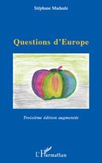 Cover Questions d'europe - troisieme edition augmentee