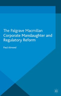 Cover Corporate Manslaughter and Regulatory Reform