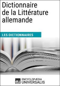 Cover Dictionnaire de la Littérature allemande
