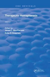 Cover Therapeutic Hemapheresis