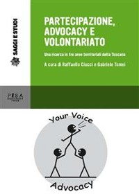 Cover titolo  Partecipazione, advocacy e volontariato