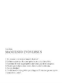 Cover Manifesto evoversus