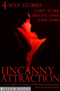 Cover Uncanny Attraction - A Sexy Bundle of 4 Supernatural M/M Erotic Romance Short Stories from Steam Books