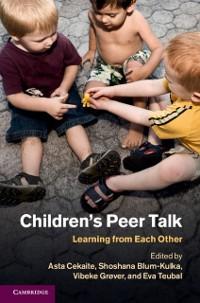 Cover Children's Peer Talk