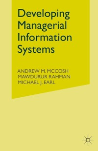 Cover Developing Managerial Information Systems