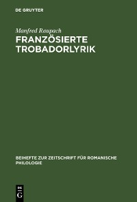 Cover Französierte Trobadorlyrik