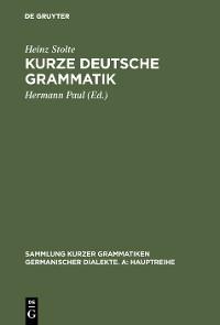 Cover Kurze deutsche Grammatik