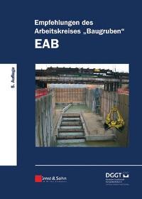 """Cover Empfehlungen des Arbeitskreises """"Baugruben"""" (EAB)"""
