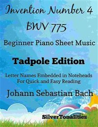 Cover Invention Number 4 Bwv 775 Beginner Piano Sheet Music Tadpole Edition