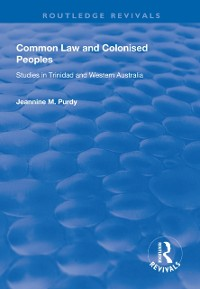Cover Common Law and Colonised Peoples