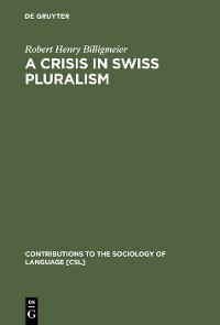 Cover A Crisis in Swiss pluralism