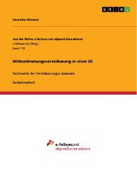 Cover Mitbestimmungsvereinbarung in einer SE