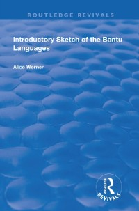 Cover Introductory Sketch of the Bantu Languages