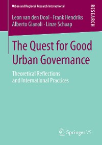 Cover The Quest for Good Urban Governance