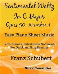 Cover Sentimental Waltz in C Major Opus 50 Number 1 Easy Piano Sheet Music