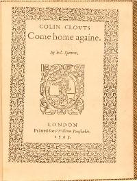 Cover Colin Clouts Come Home Againe