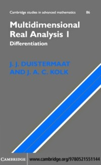 Cover Multidimensional Real Analysis I