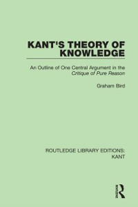 Cover Kant's Theory of Knowledge