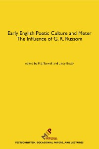 Cover Early English Poetic Culture and Meter