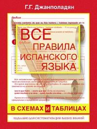 Cover Все правила испанского языка в схемах и таблицах
