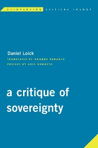 Cover A Critique of Sovereignty