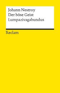 Cover Der böse Geist Lumpazivagabundus oder Das liederliche Kleeblatt