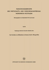 Cover Das Verhalten von Silikasteinen im Siemens-Martin-Ofengewolbe