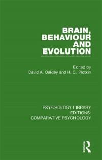 Cover Brain, Behaviour and Evolution