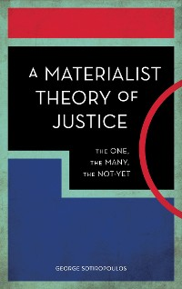 Cover A Materialist Theory of Justice