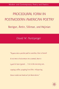 Cover Procedural Form in Postmodern American Poetry