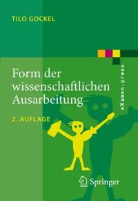 Cover Form der wissenschaftlichen Ausarbeitung