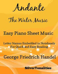 Cover Andante the Water Music Easy Piano Sheet Music