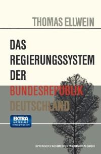 Cover Das Regierungssystem der Bundesrepublik Deutschland