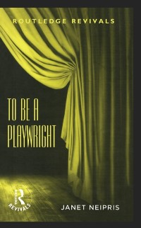 Cover To Be A Playwright