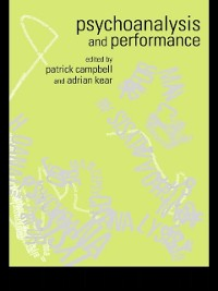 Cover Psychoanalysis and Performance