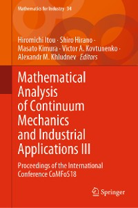 Cover Mathematical Analysis of Continuum Mechanics and Industrial Applications III