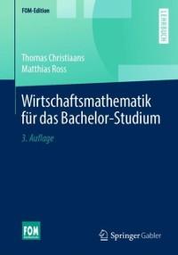 Cover Wirtschaftsmathematik fur das Bachelor-Studium