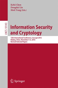 Cover Information Security and Cryptology