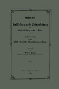 Cover Geschichte der Entstehung und Entwickelung der judischen Reformgemeinde in Berlin