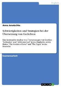 Cover Schwierigkeiten und Strategien bei der Übersetzung von Gedichten
