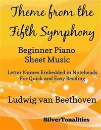 Cover Theme from the Fifth Symphony Beginner Piano Sheet Music