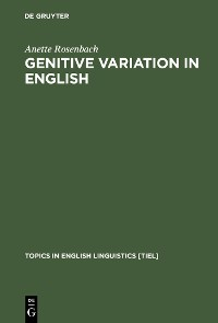 Cover Genitive Variation in English