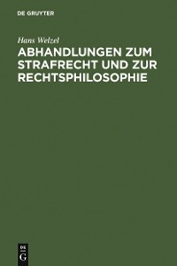 Cover Abhandlungen zum Strafrecht und zur Rechtsphilosophie