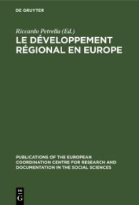 Cover Le développement régional en Europe