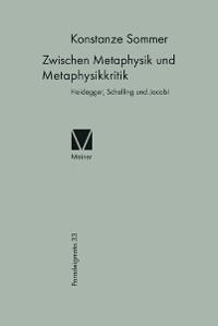 Cover Zwischen Metaphysik und Metaphysikkritik