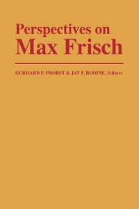 Cover Perspectives on Max Frisch