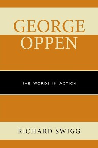 Cover George Oppen