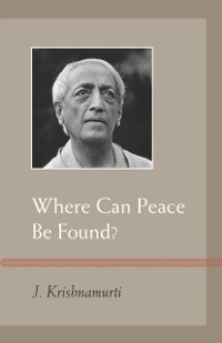 Cover Where Can Peace Be Found?